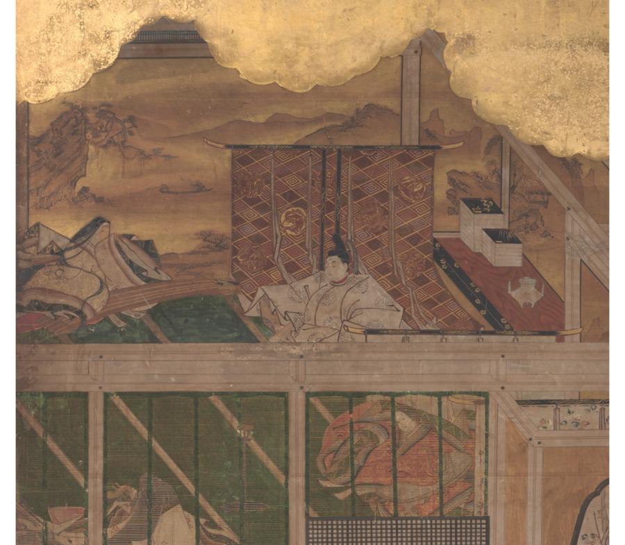 Kyoto Kano School, 1625-1660 scene din Povestea lui Genji (detaliu)